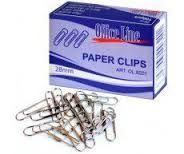 Скрепки OfficeLine 28 мм, 100 шт, круглые, никелированные
