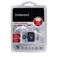 Сard de memorie Intenso MicroSD 16GB Class 10 + SD Adapter