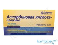 Acid ascorbic 50 mg/ml 2ml sol.inj. N5x2 (Zdorovie)