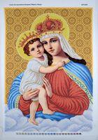 Схема для вышивки бисером Мадонна с ребенком