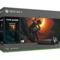 Microsoft Xbox One X 1TB Black 1 x Gamepad (Xbox One Controller) + Game Shadow of Tomb Raider