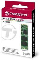 M.2 SATA SSD 64GB Transcend MTS800 TS64GMTS800S