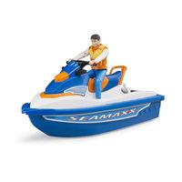 Toy o motocicletă cu apă cu șoferul, cod 42314