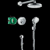 Sistem de duș cu montarea ascunsa hansgrohe Raindance Select S, cu termostat ShowerSelect S