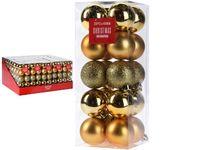 Set de globuri 20X40mm aurii in cutie, 3 modele