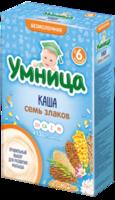 Umnitsa terci din 7 cereale fără lapte, 6+ luni, 200 g