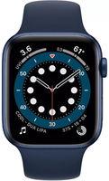 Apple Watch Series 6 GPS, 44mm, Aluminum Case with Deep Navy Sport Band, M00J3 GPS, Blue