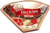 Аксессуар для кофеварки Gosia 191899 cofee filters, №2 40pcs