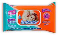 Салфетки влажные FRESHMAKER Baby, 72 штуки, с крышкой