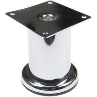 Picior reglabil crom H80/Ø50 mm