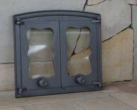 Дверца чугунная со стеклом двустворчатая Halmat - BATUMI III
