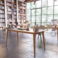 купить Стол с деревянной поверхностью и деревянными ножками, 1200x800x750 мм, черный в Кишинёве