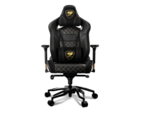 Gaming Chair Cougar ARMOR TITAN PRO Royal Black/Gold, User max load up to 160kg / height 160-195cm