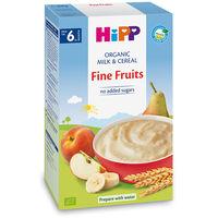 Terci organic Hipp din griș și fructe fine cu lapte (6+ luni), 250gr.