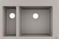 Chiuveta pentru bucatarie S510-F635, beton gri