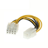 4 Pin Male to 8 Pin CPU Power Supply Adapter