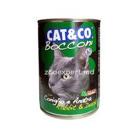 Cat & Co bucăți de rață şi iepure 405 gr