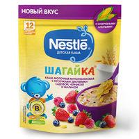 Каша мультизлак земляника-черника-малина с молоком Nestle Шагайка, с 12 месяцев, 190г