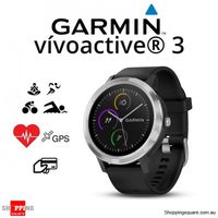 GARMIN Vivoactive 3 Black Silicone Stainless