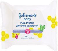 Johnson's Baby Șervețele umede Pure Protect 25 buc