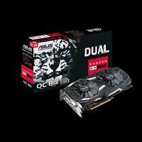 ASUS DUAL-RX580-O8G AMD Radeon RX 580, 256Bit