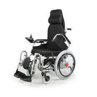 Инвалидное электрическое кресло коляска с регулировкой спинки и подножек