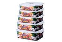 купить Емкости для хранения продуктов 5шт, прямоугольные в Кишинёве