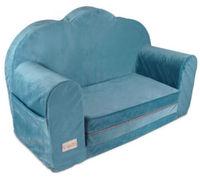 Sofa pentru copii Klups Velvet Bllue