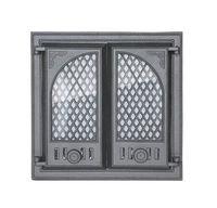 Дверца чугунная со стеклом двустворчатая Halmat - LITWA I