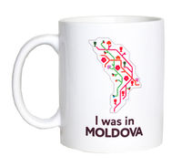 купить Кружка белая – I was in Moldova в Кишинёве