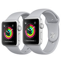 Apple Watch Series 3, 38mm, Silver Aluminium Case, Sport Band, Fog
