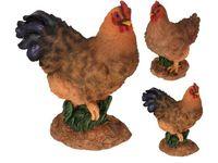 Статуэтка Петух-курица стоящие 27X21.5cm, керам., 3 позиции