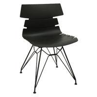 купить Пластиковый стул, хромированные стальные ножки 470x510x800 мм, черный в Кишинёве