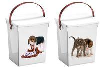 Cutie pentru pastrarea alimentelor pentru animale, 5l, plastic
