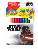 Set de carioci 2 în 1, 10 culori- Colorino Disney Star Wars
