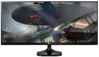 """34.0"""" LG """"34UM58-P"""" G.Black (IPS, 2560x1080, 5ms, 250cd, LED Mega DFC, HDMI x2) (34.0"""" AH-IPS LED, 2560x1080 UWHD, 0.31mm, 5ms GTG, 250 cd/m², CR 1000:1 (Mega DFC), sRGB 99%, 16.7M Colors, 178°/178° @C/R>10, HDMI 1.4 x2, External Power Adapter, Fixed Stand (Tilt -5/+20°), VESA Mount 100x100, Screen Split, PiP/PbP, Game mode, Black Stabilizer/Dynamic Action Sync, Dual Controller, Flicker Safe, Black-Glossy)"""