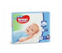 Huggies Scutece Ultra Comfort 3 pentru băieței, 5-9 kg, 94 buc.