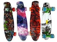 купить Скейтборд 55X14cm, max 75kg, светящиеся колеса, яркие цвета, в Кишинёве