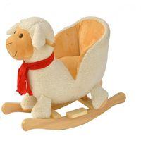 BabyGo качалка деревянная с музыкой Овечка