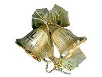 """купить Украшение елочное """"2 колокольчика"""" 20cm (красн, серебр, зол) в Кишинёве"""