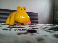 Стильная игрушка Бегемотик Желтый