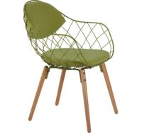 cumpără Scaun metalic cu şezut textil verde şi picioare din lemn, 600x570x500 mm în Chișinău