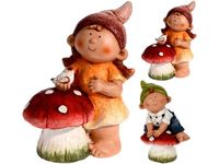 купить Мальчик/девочка декоративные с грибом H37cm в Кишинёве