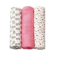 Пеленки из органических бамбуковых волокон Babyono розовые