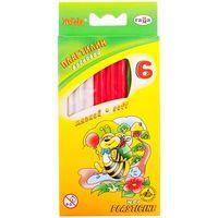 GAMMA Пластилин восковой ГАММА Пчелка 6 цв, 73гр, со стеком
