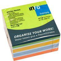 Info Notes Бумага клейкая INFO 75x75мм/5цв., 450 листов, куб пастел