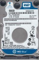 "Жесткий диск 2.5"" HDD 500GB  Western Digital WD5000LPCX, Blue™, 5400rpm, 16MB, 7mm, SATAIII"