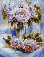 Pictura pe numere 40x50 - Trandafiri căzuți