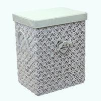 купить Корзина из текстиля 370x280x460 мм, белый в Кишинёве