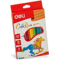 DELI Карандаши цветные DELI Run, 18 цветов